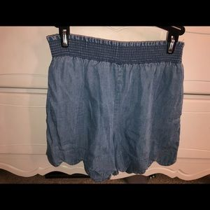 "Scalloped ""Blue Jean"" Soft Shorts"